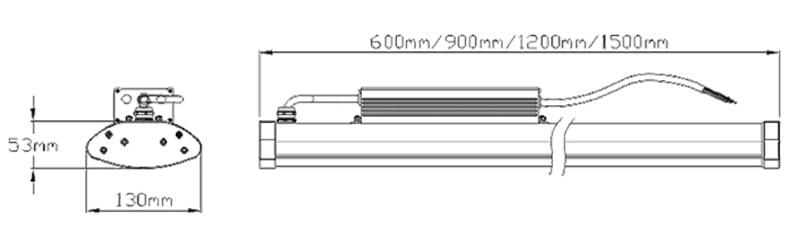 LED lineare ad alta dimensione della luce della baia