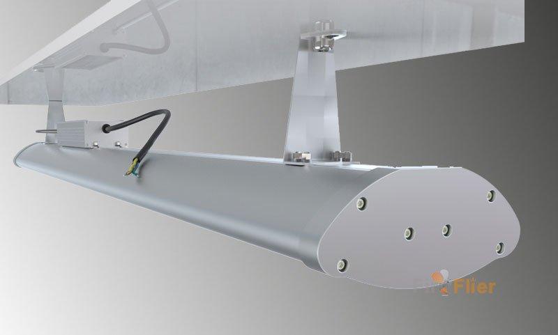 installazione montata di luce ad alta baia a led lineare