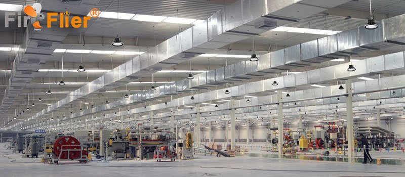 UFO LED High bay light in warehouse
