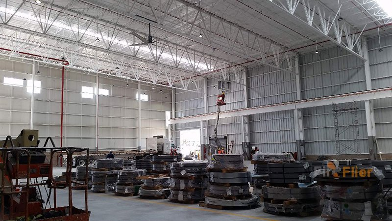 ufo led high bay light in metal plant