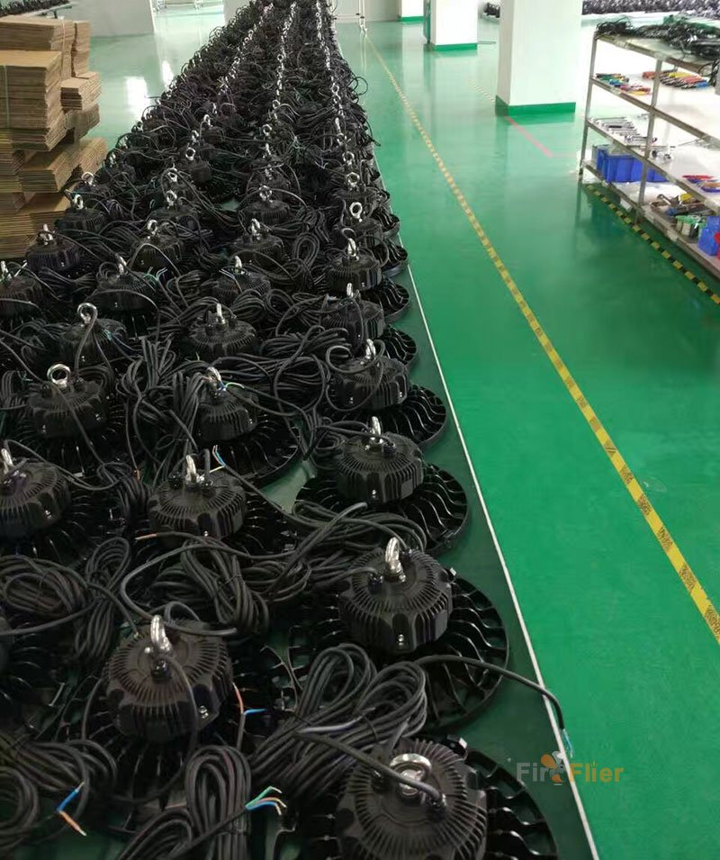 ufo led high bay lighting production