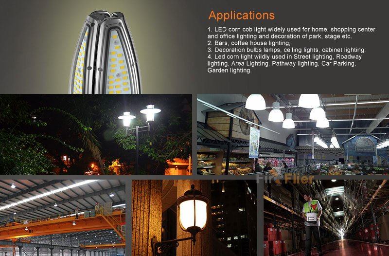 Aplikasi IP65 LED Corn Bulb 10W