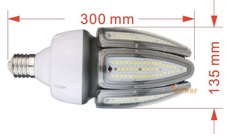 LAMPADINA LED Mais IP65 DIMENSIONE 80W