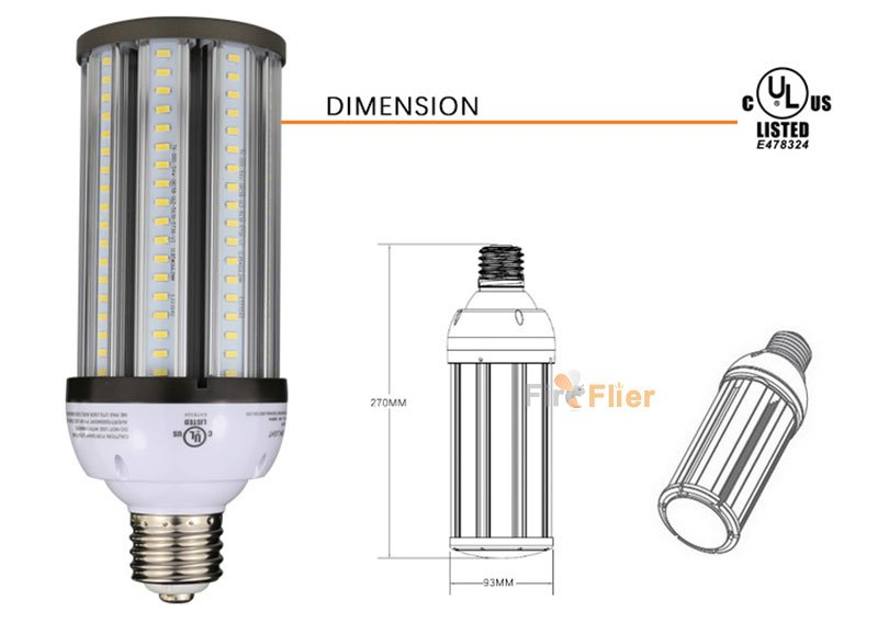 ip64 LED Corn Bulb 54W Size