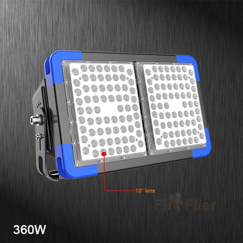 Luce da stadio a LED a 10 gradi 360W