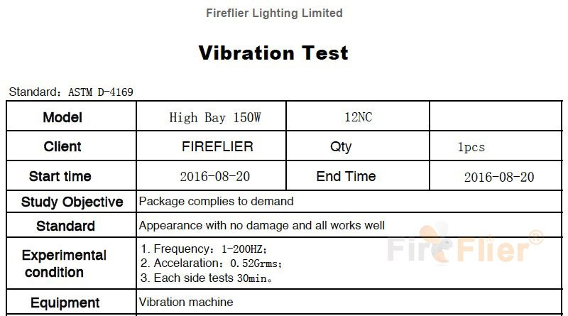 Prueba de vibración UFO LED High Bay Light