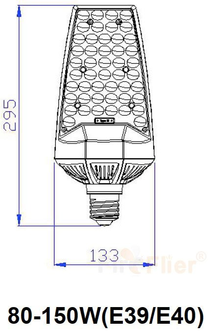 180 ° LED Retrofit Bulb ukuran 80W