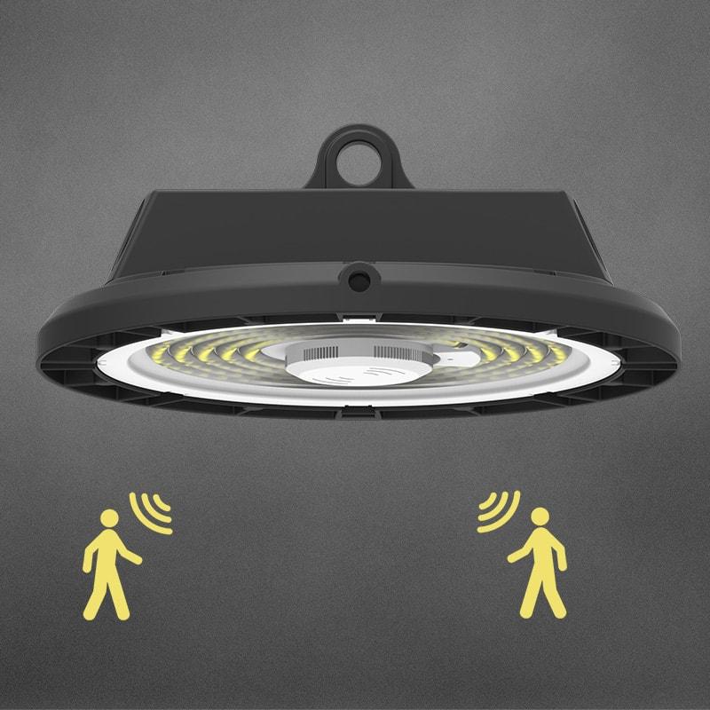 Lampada UFO LED High bay con sensore di movimento