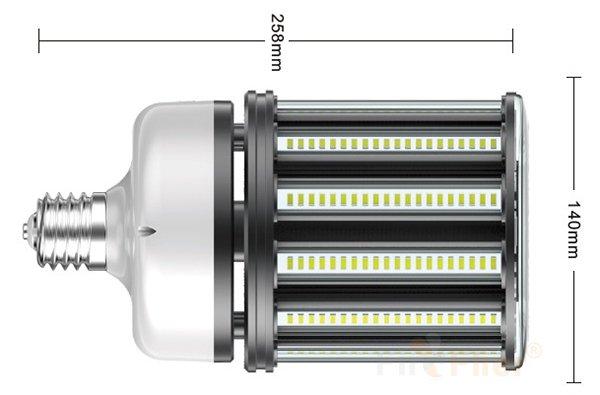 non flickering LED Corn Bulb 100W Size