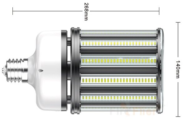 не мерехтіння LED кукурудзяна лампа 120W