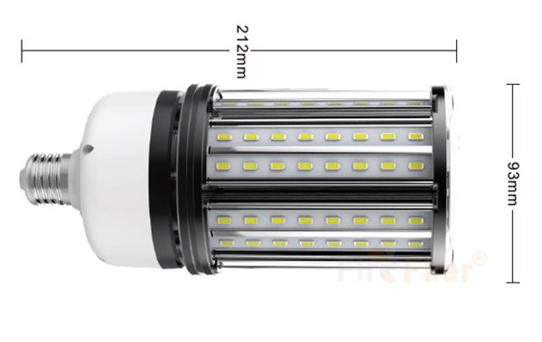 non-flickering LED Corn Bulb ukuran 27W