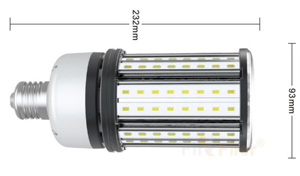 LED non Jagung LED Bulb 36W ukuran