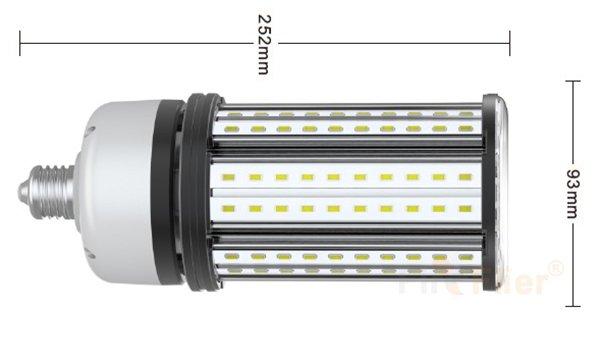 bóng đèn LED không bóng loáng 45w