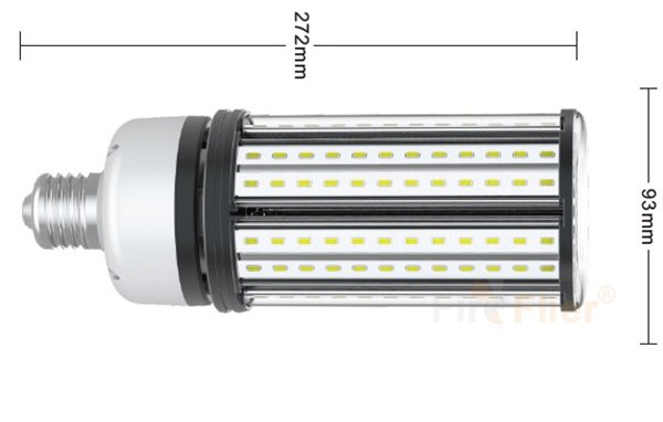 non flickering LED Corn Bulb 54W size