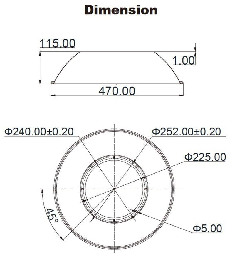 Dimensione diffusore in alluminio