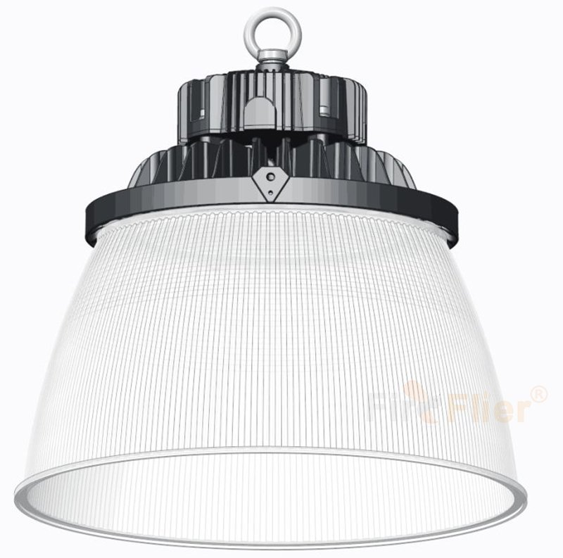Diffusore in policarbonato a luce industriale a LED
