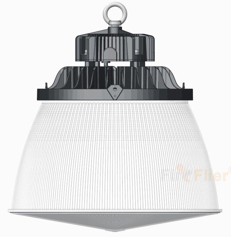 Lampada da magazzino a LED con paralume in PC