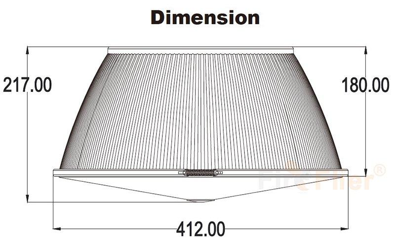 Tamaño del reflector de policarbonato