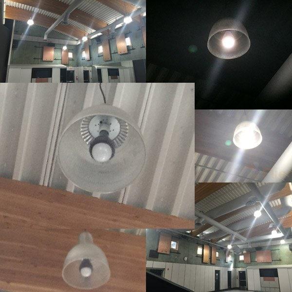E40 LED High Bay izzó 100W alkalmazás