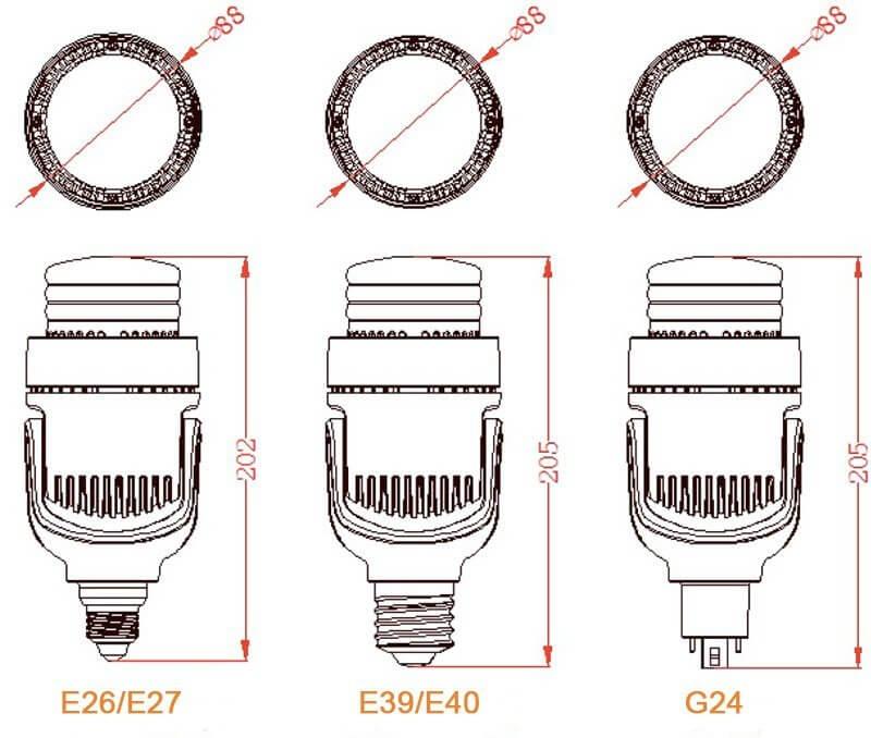 Lampadina retrofit LED E27 E40