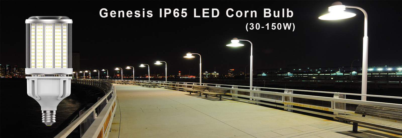 Genesis IP65 LED corn bulb