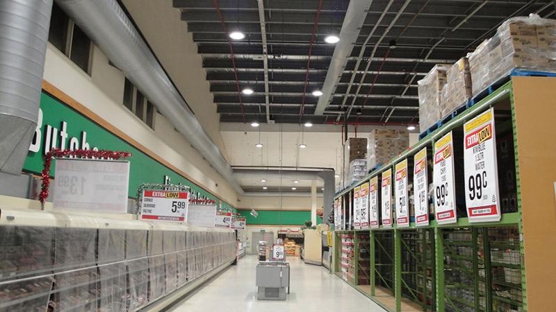 Aplicación de luz LED para almacén