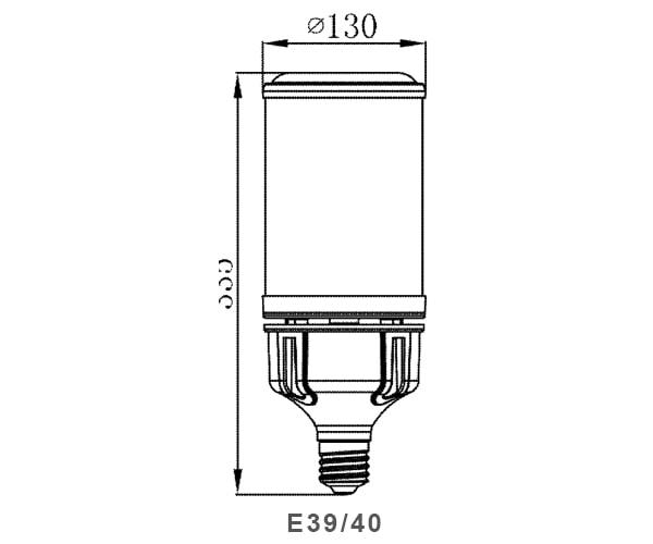 Lampada da esterno a led per mais 125w