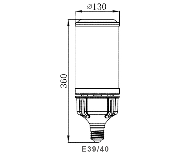 Lampada da esterno a led per mais 150w