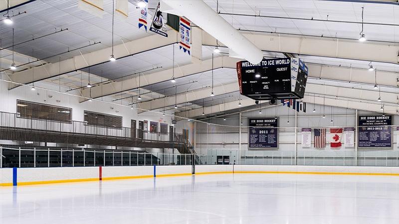 Luz LED de gran altura para hockey sobre hielo