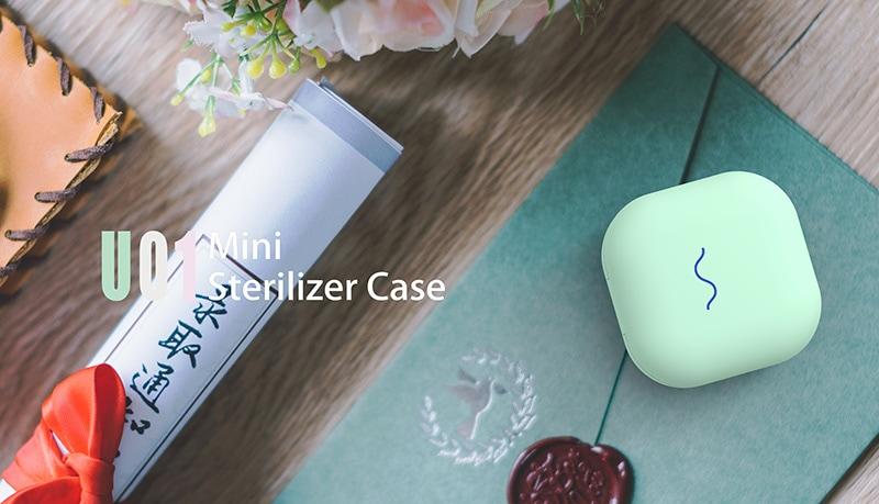 scatola sterilizzatore UVC di colore verde