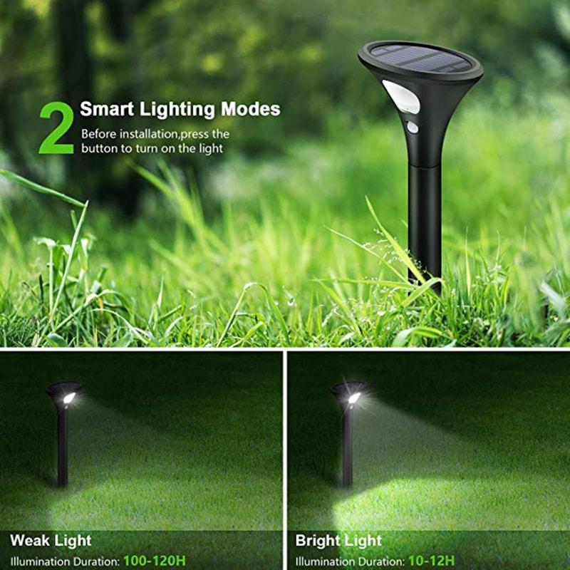 modalità di illuminazione intelligente della luce del percorso solare
