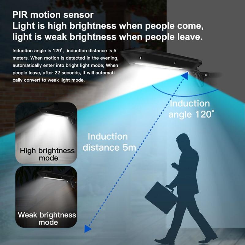 Applique a LED solare con sensore di movimento Pir