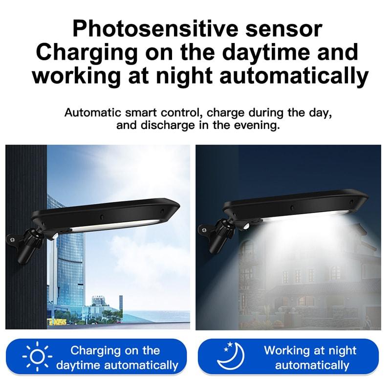 lampada da parete solare a LED funzionante automatica