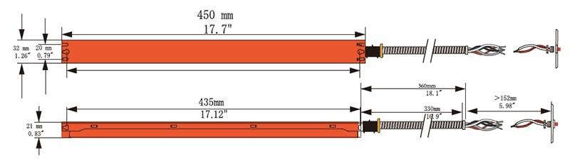 15W 20W vészhelyzeti biztonsági másolat a panel világításához