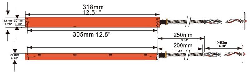 6W 8W vészhelyzeti biztonsági másolat a panel világításához
