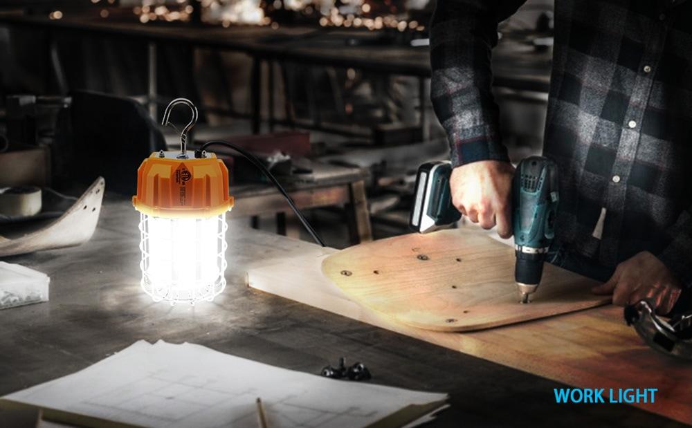 Lampada da lavoro temporanea a LED portatile
