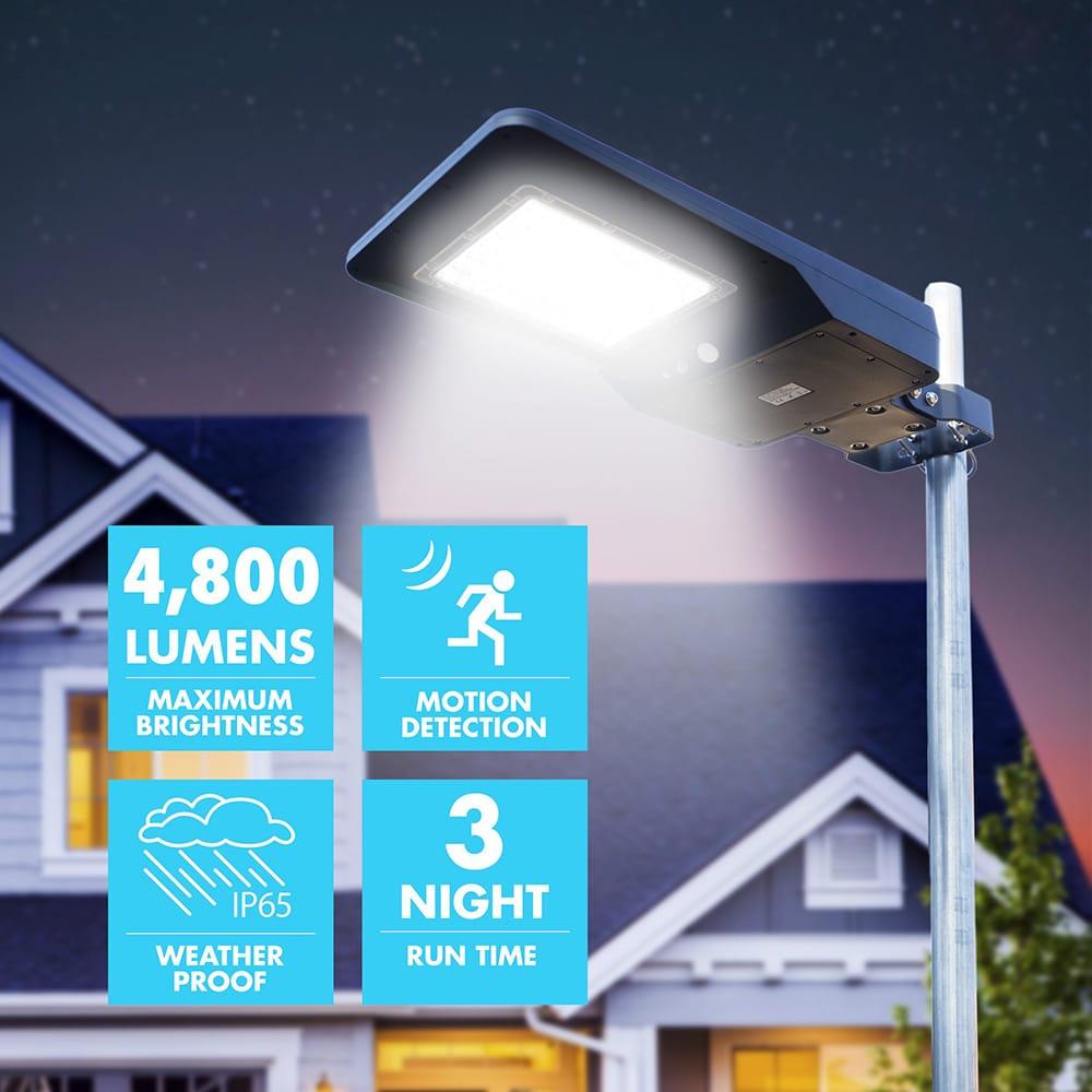 szolár utcai lámpa 40w 4800lumen