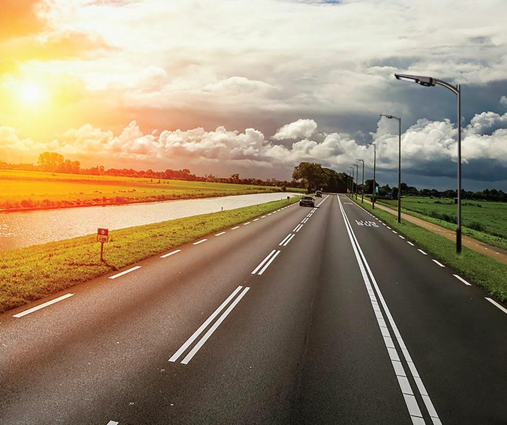 napenergia utcai lámpa a meghajtó út világításához